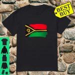 Vanuatu Flag Paint Style shirt