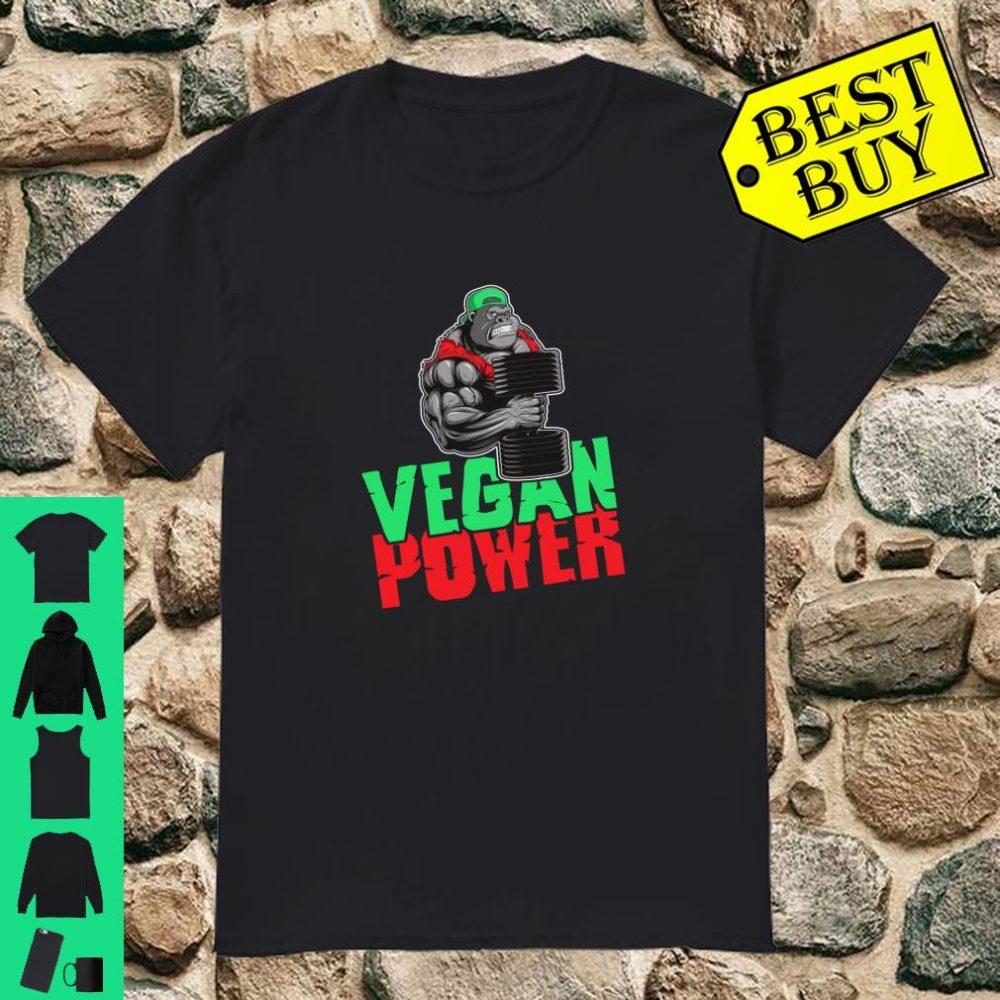 Vegan Power Gorilla Beast Workout Fitness Bodybuilder Shirt