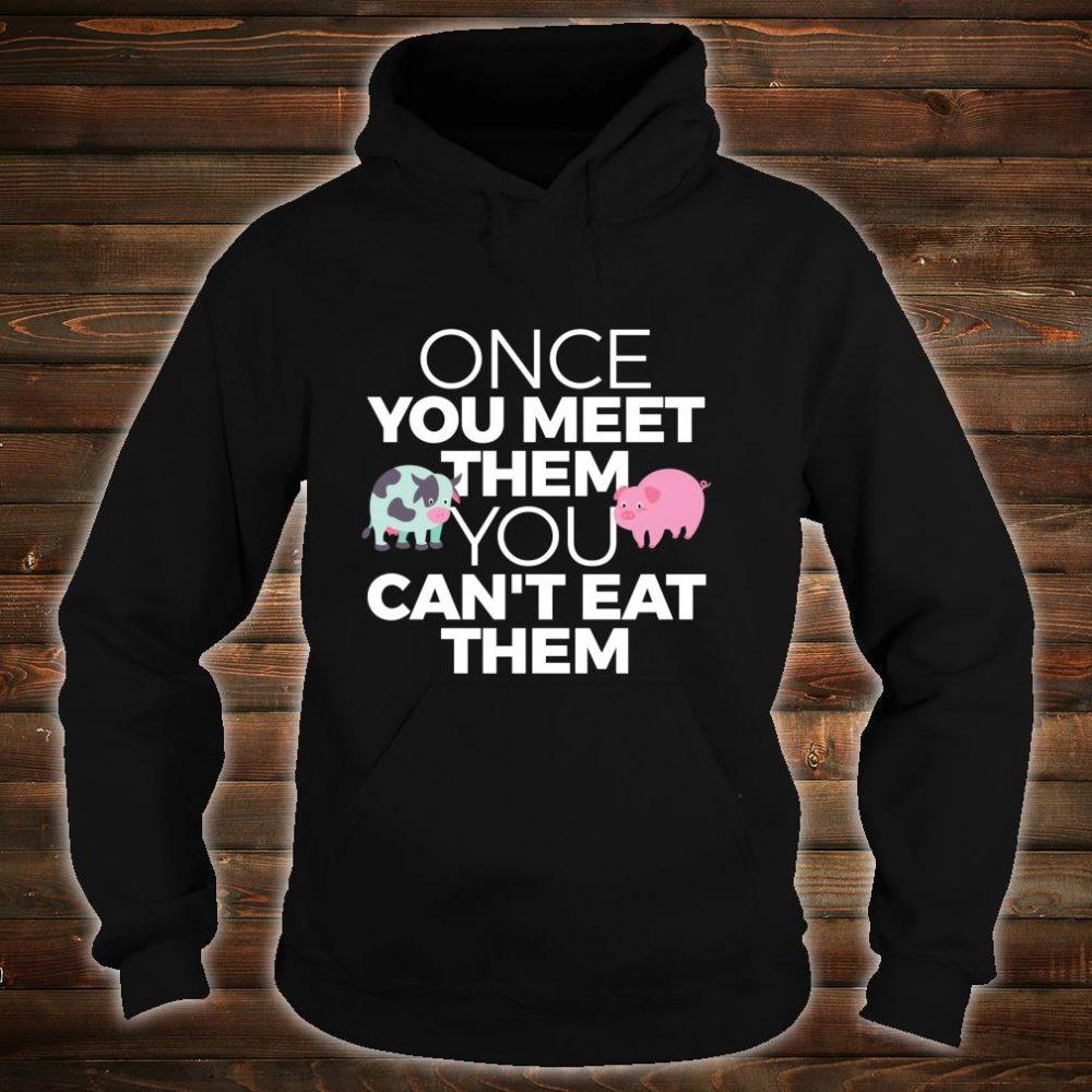 Vegan Vegetarian Meet Animals Can't Eat Them Shirt hoodie