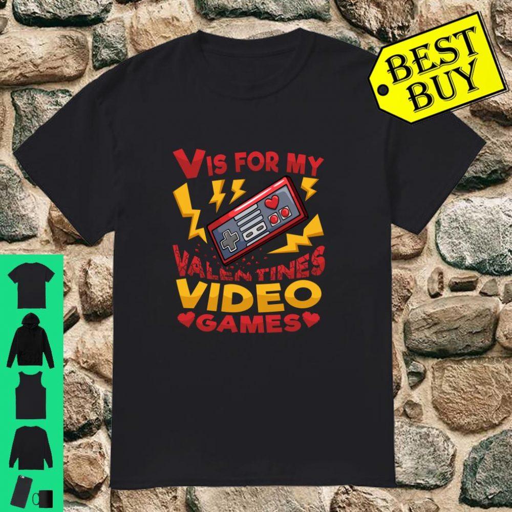 Video Games Heart Console Valentine Love Shirt