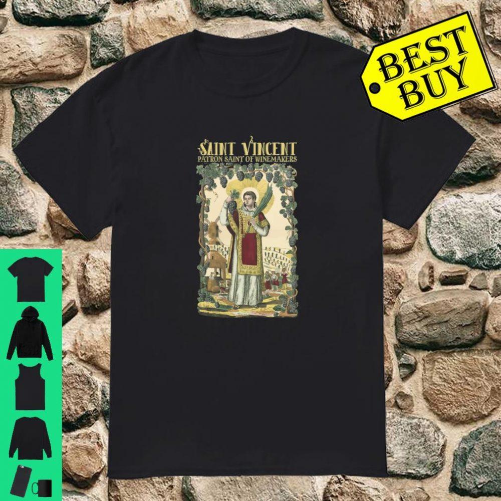 Vincent of Saragossa Patron of Winemakers Vigneron Catholic Shirt