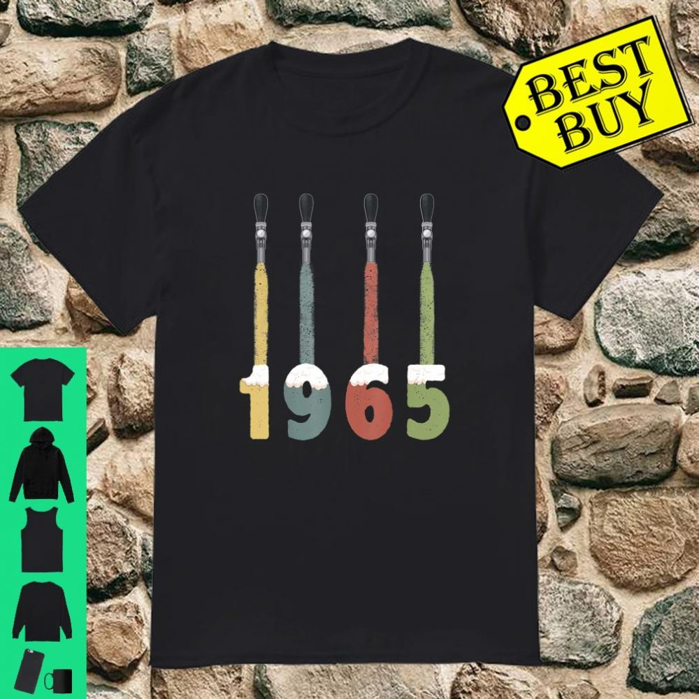 Vintage 1965 Beer 55th Birthday Gifts 55 Years Old Shirt