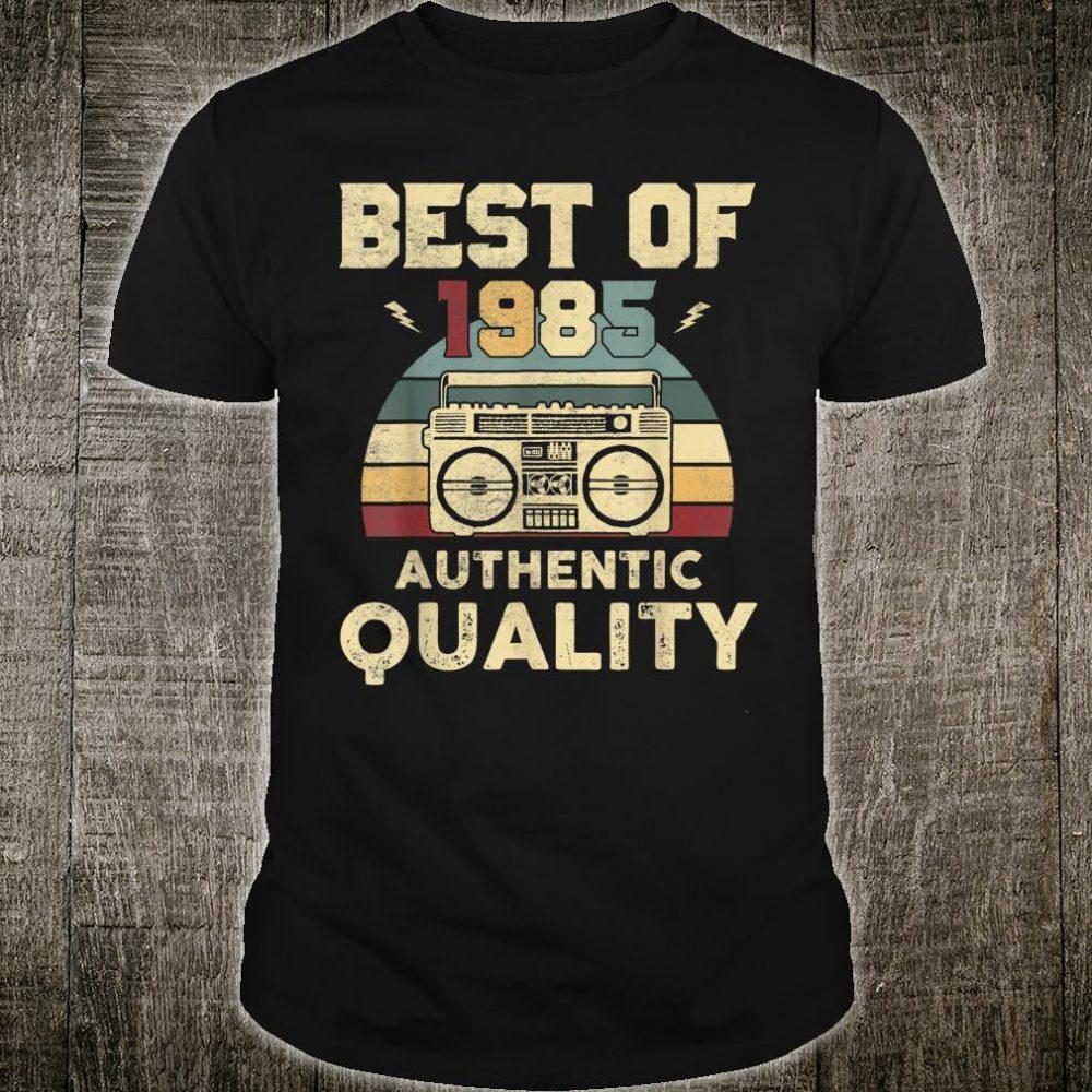 Vintage 1985 Authentic Quality Shirt