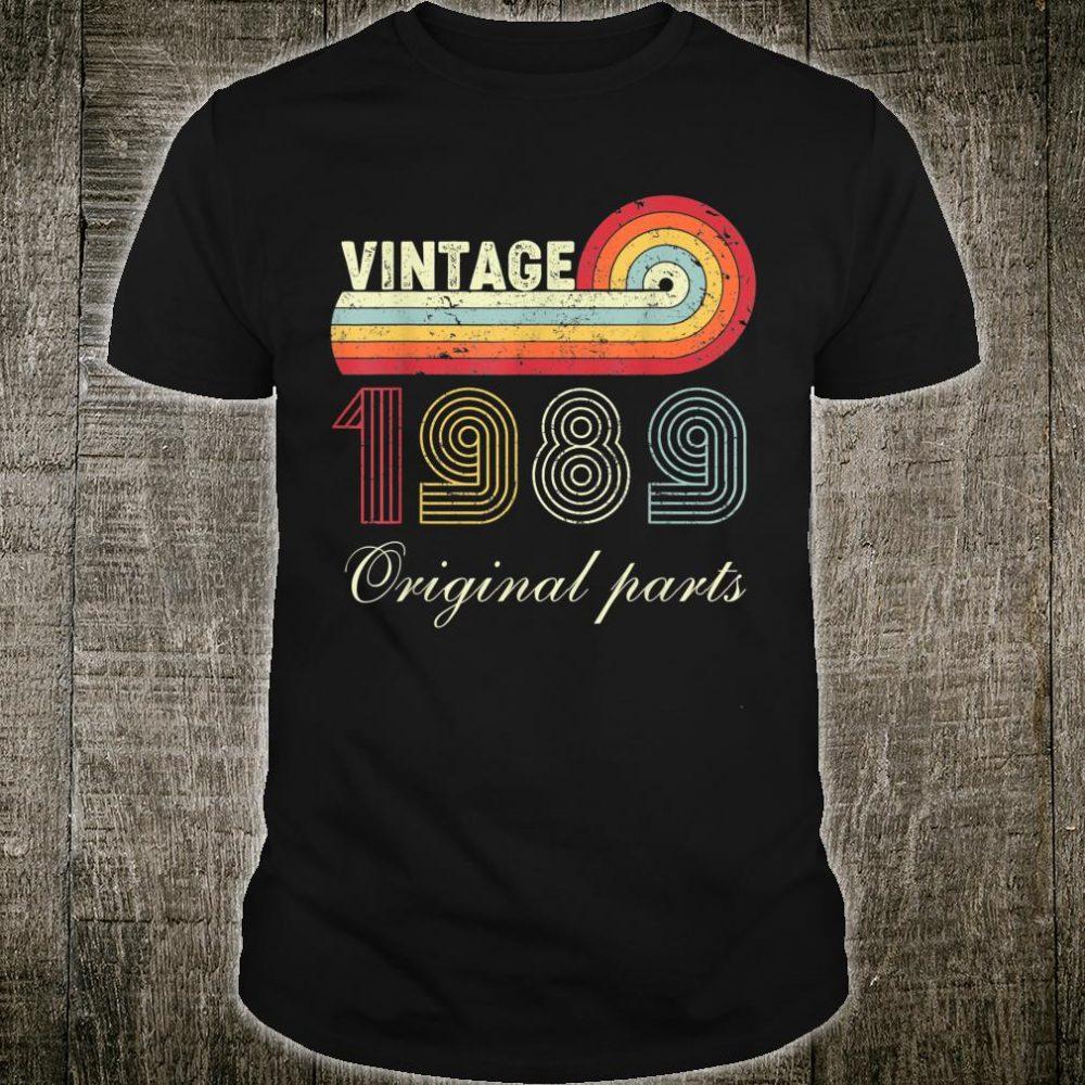 Vintage 1989 31 Years Old 31th Birthday Shirt