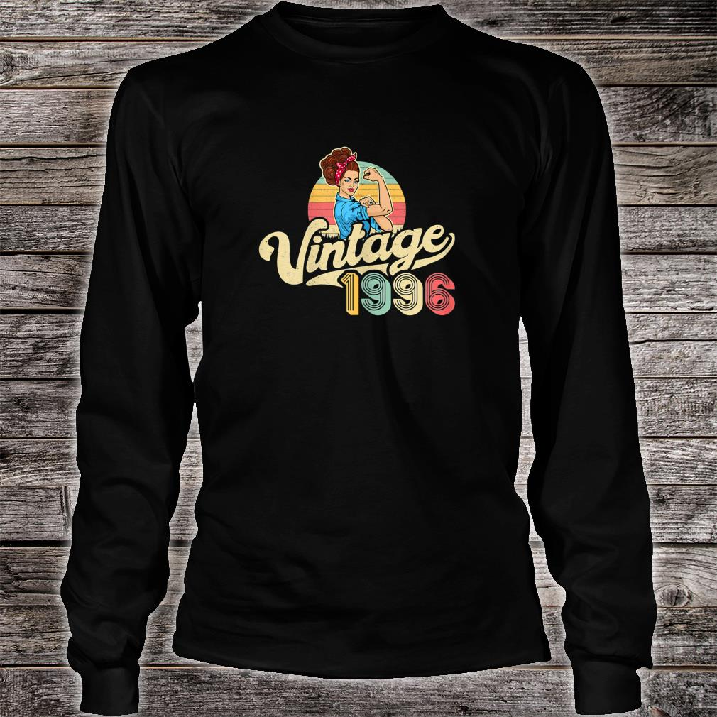 Vintage 1996 24 years old 24th Birthday Shirt Long sleeved