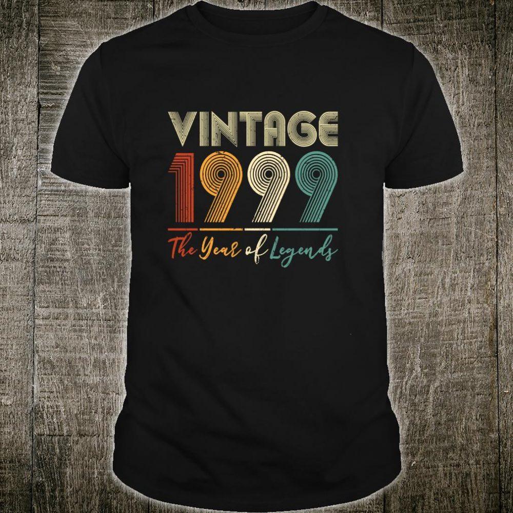 Vintage 1999 21st Birthday Ideas Him Her Shirt