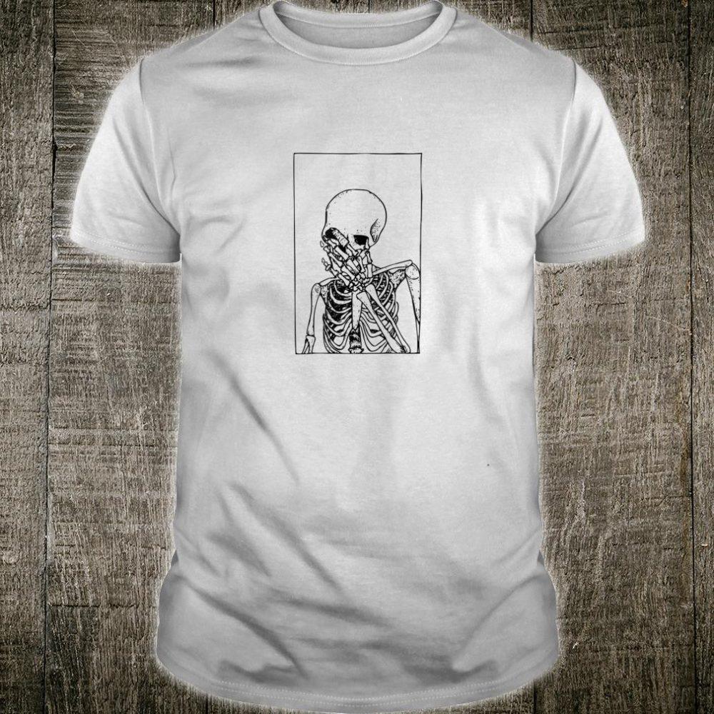 Vintage Aesthetic Skeleton Shirt