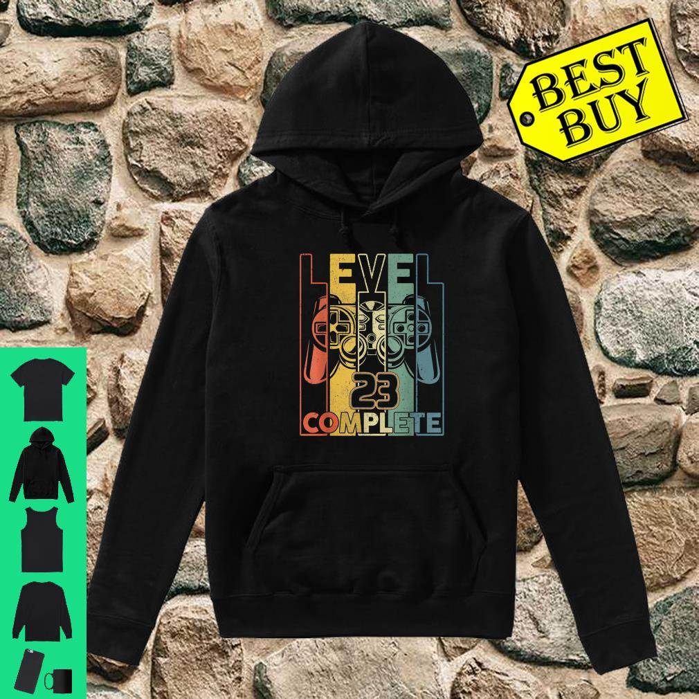 Vintage Awesome Born In 1997 Gamer Level 23 Unlocked Shirt hoodie