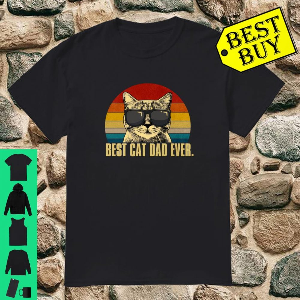 Vintage Best Cat Dad Ever Shirt