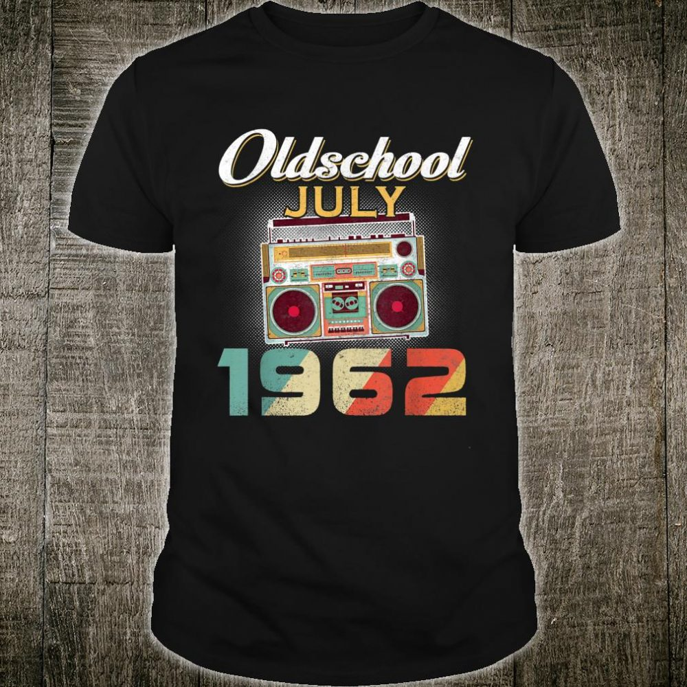 Vintage Best of JULY 1962 58 Years Old Birthday Cassette Shirt