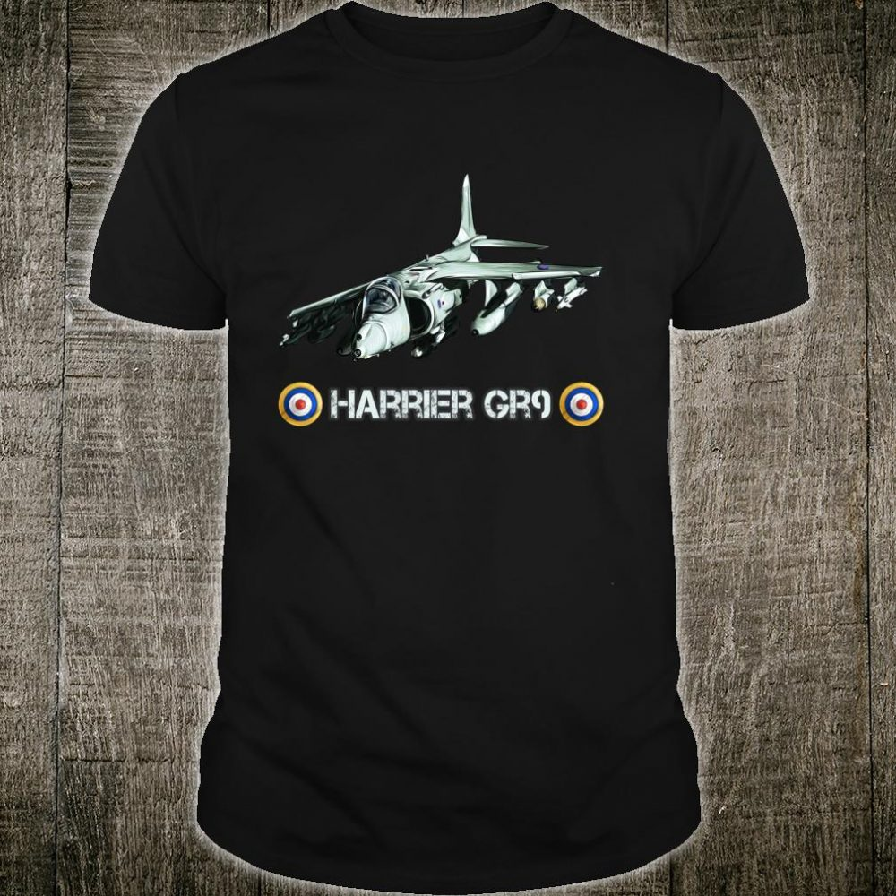Vintage British Fighter Bomber Harrier GR9 Shirt