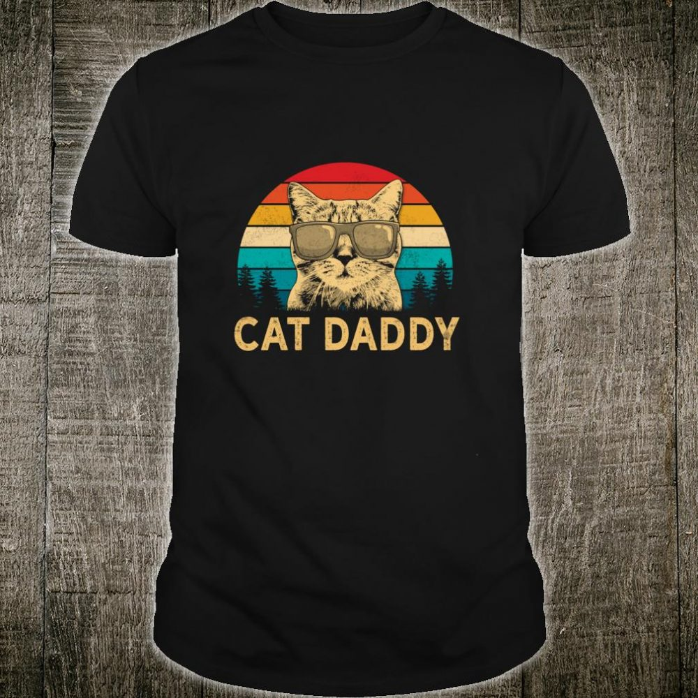 Vintage Cat Daddy Cat Cat Dad Fathers Shirt