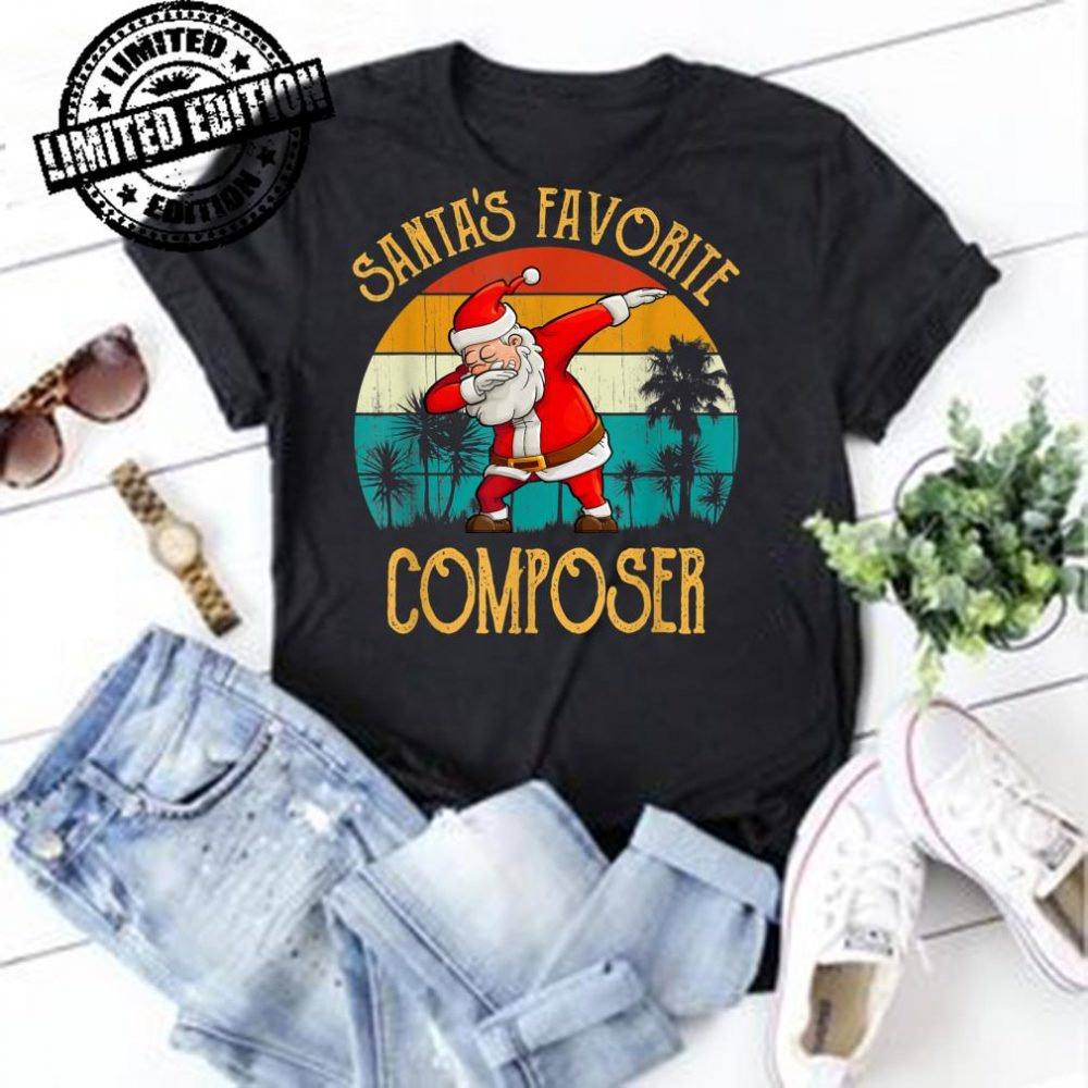 Vintage Dabbing Santa's Favorite COMPOSER Family Christmas shirt
