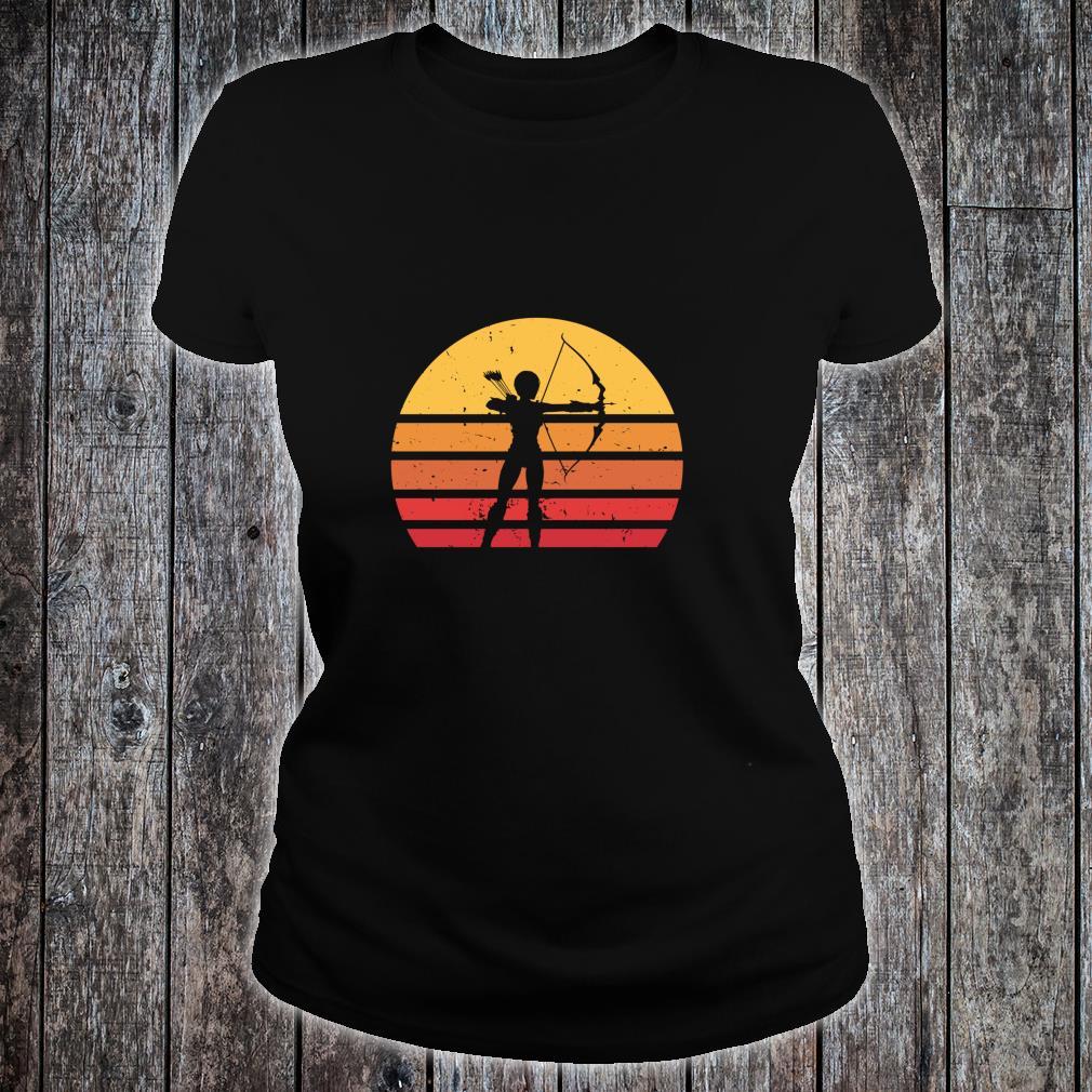 Vintage Distressed Archery Retro Shirt ladies tee