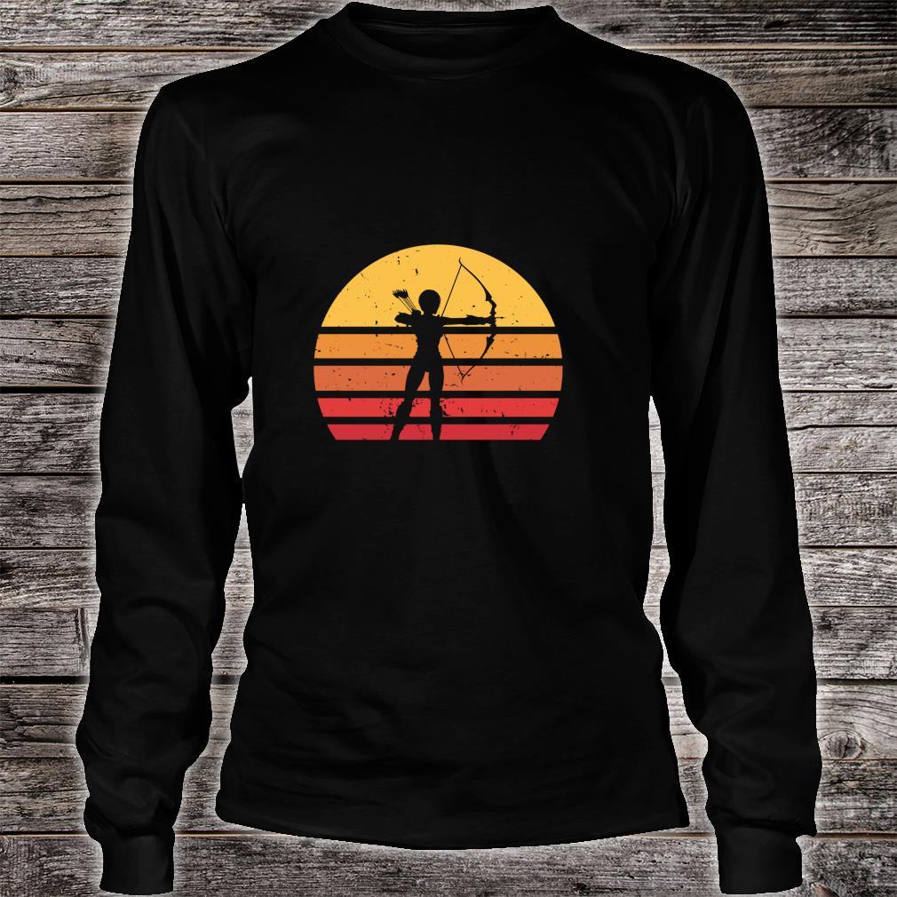 Vintage Distressed Archery Retro Shirt long sleeved