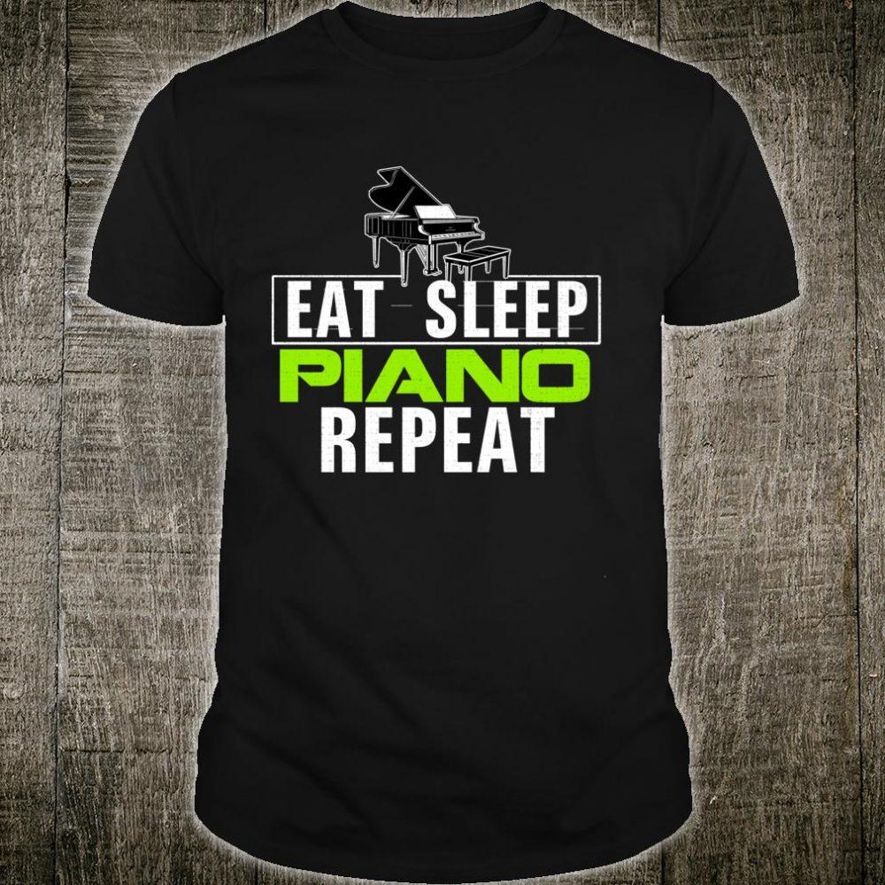 Vintage Eat Sleep Piano Repeat Music Orchestra Shirt