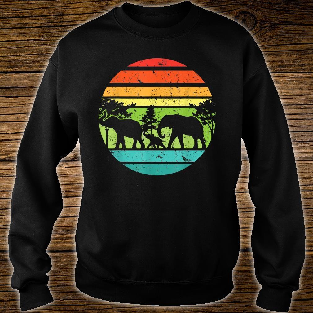 Vintage Elephant Retro Sunset Colors Silhouette Elephant Shirt sweater