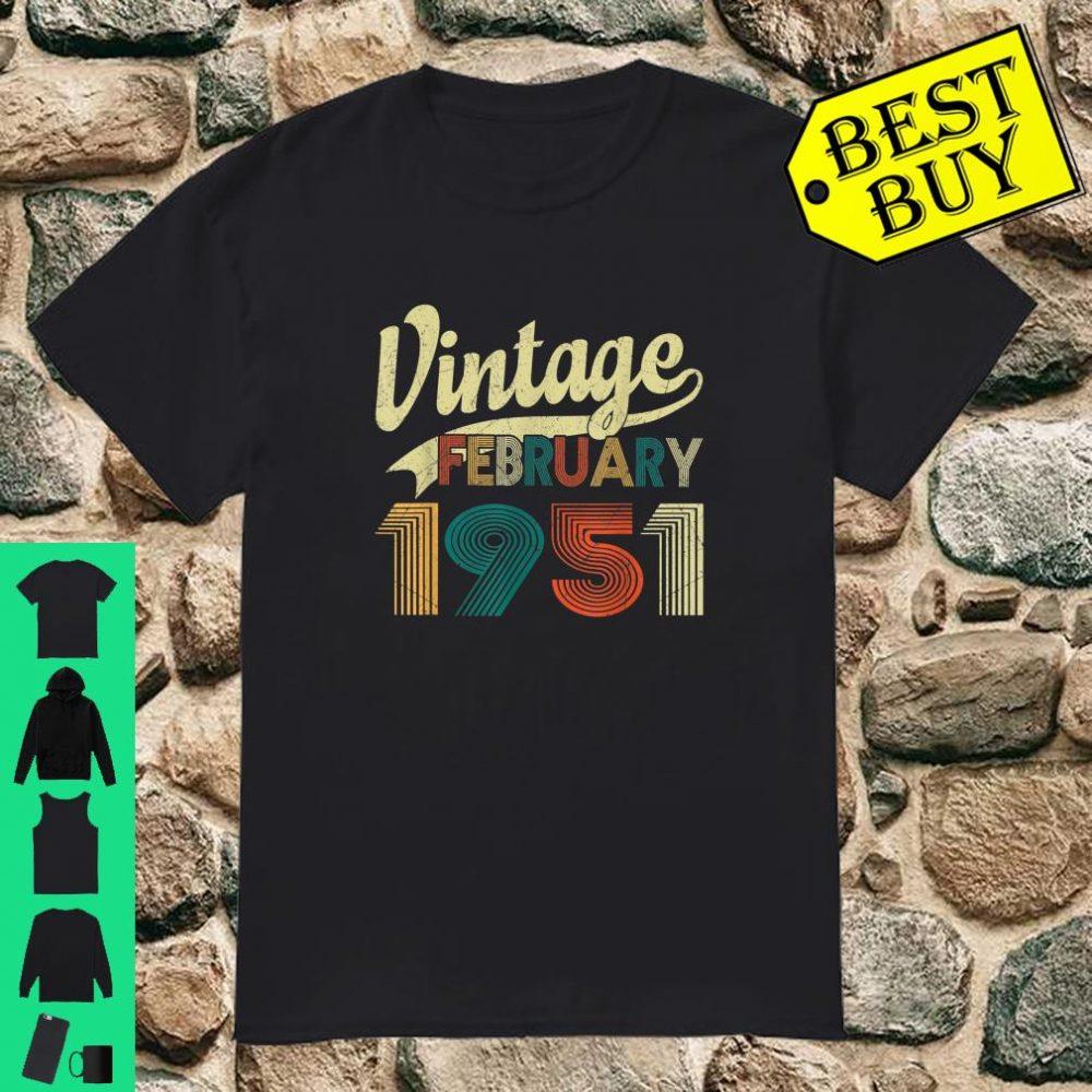 Vintage February 1951 Shirt 69th Birthday Gift 69 Years Old Shirt