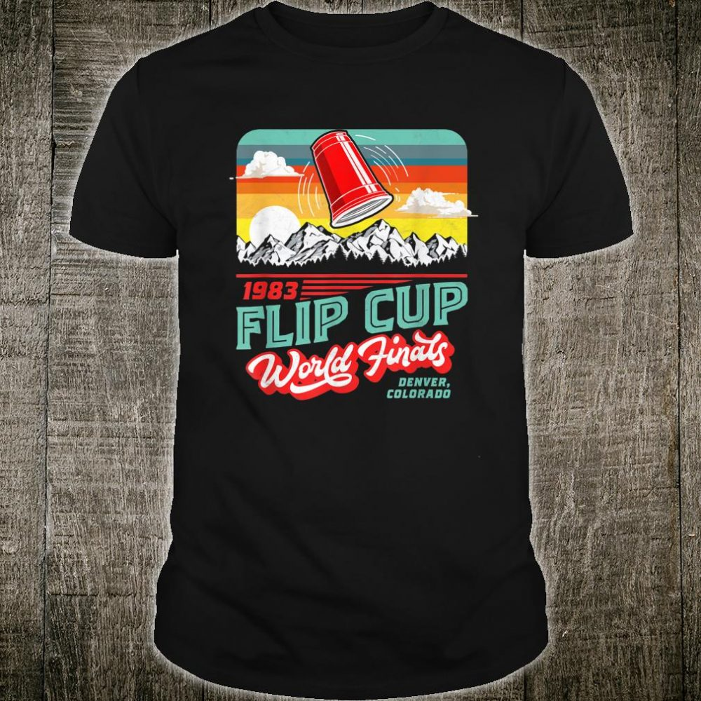 Vintage Flip Cup Championship Retro 80's Distressed Shirt