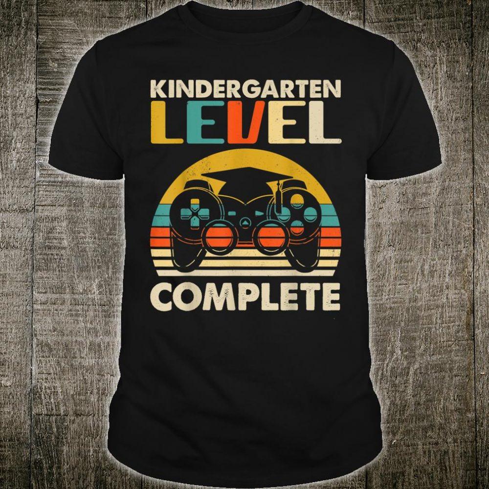 Vintage Gamer Kindergarten Level Complete Shirt