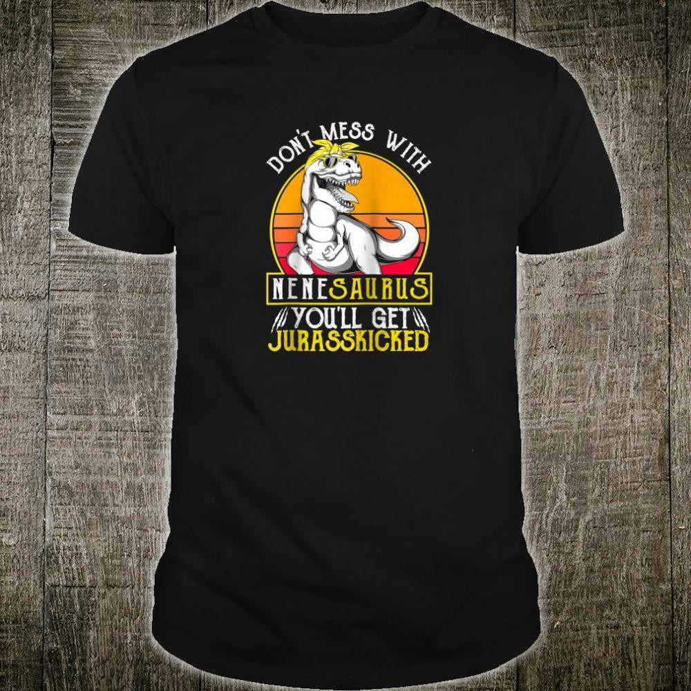 Vintage Jurasskicked Nene Saurus Dino Grandma Shirt