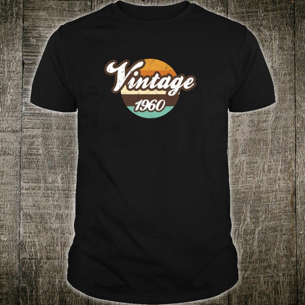 Vintage Made In 1960 Vintage s6 Retro 60th Birthday Shirt