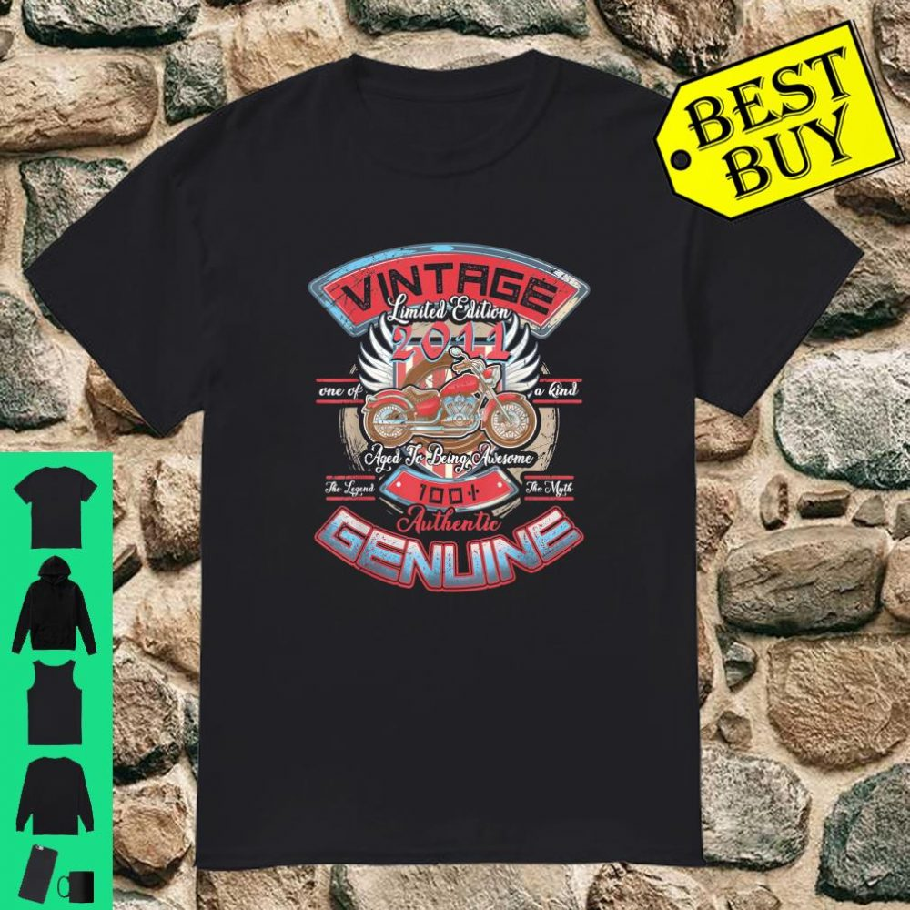 Vintage Made In 2011 9th Birthday 9 Years Old Classic Gift Shirt