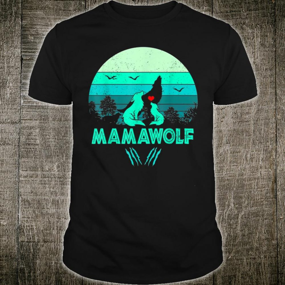 Vintage Mamawolf Mothers day Wolf mom Shirt