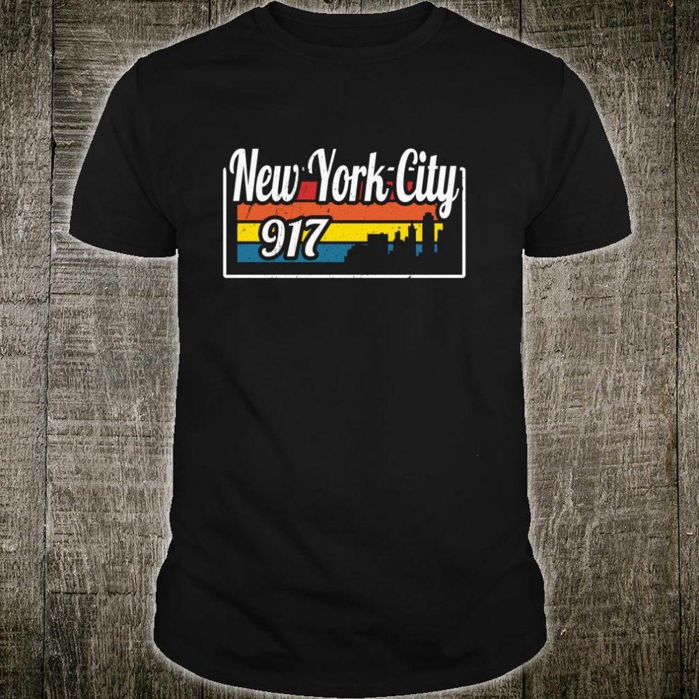 Vintage New York City Skyline 917 NYC Retro Shirt