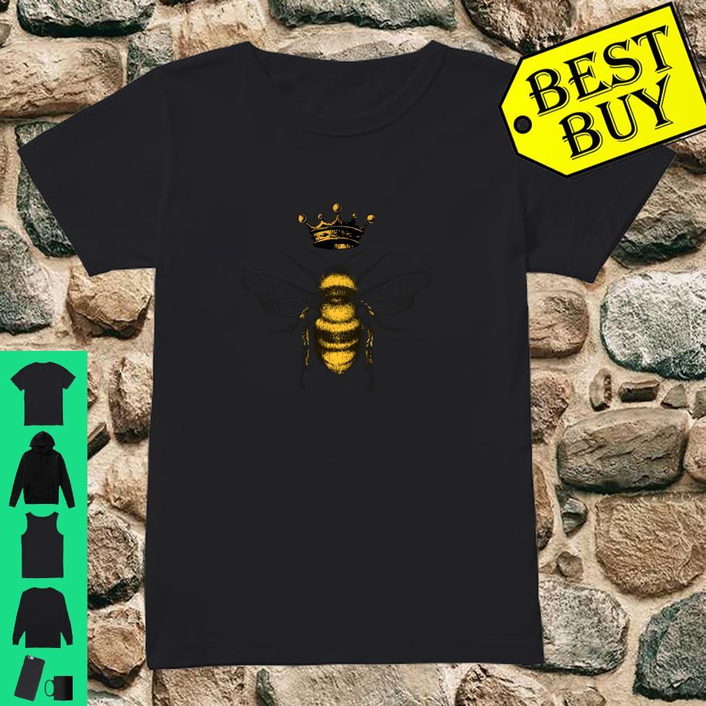 Vintage Queen Bee Crown Cute Christmas Gift Women Beekeeper shirt