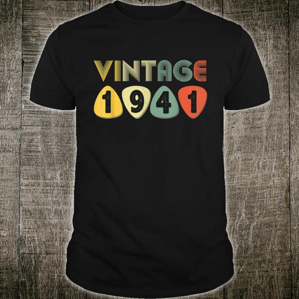 Vintage Retro 1941 79th Birthday 79 Years old Bday Shirt