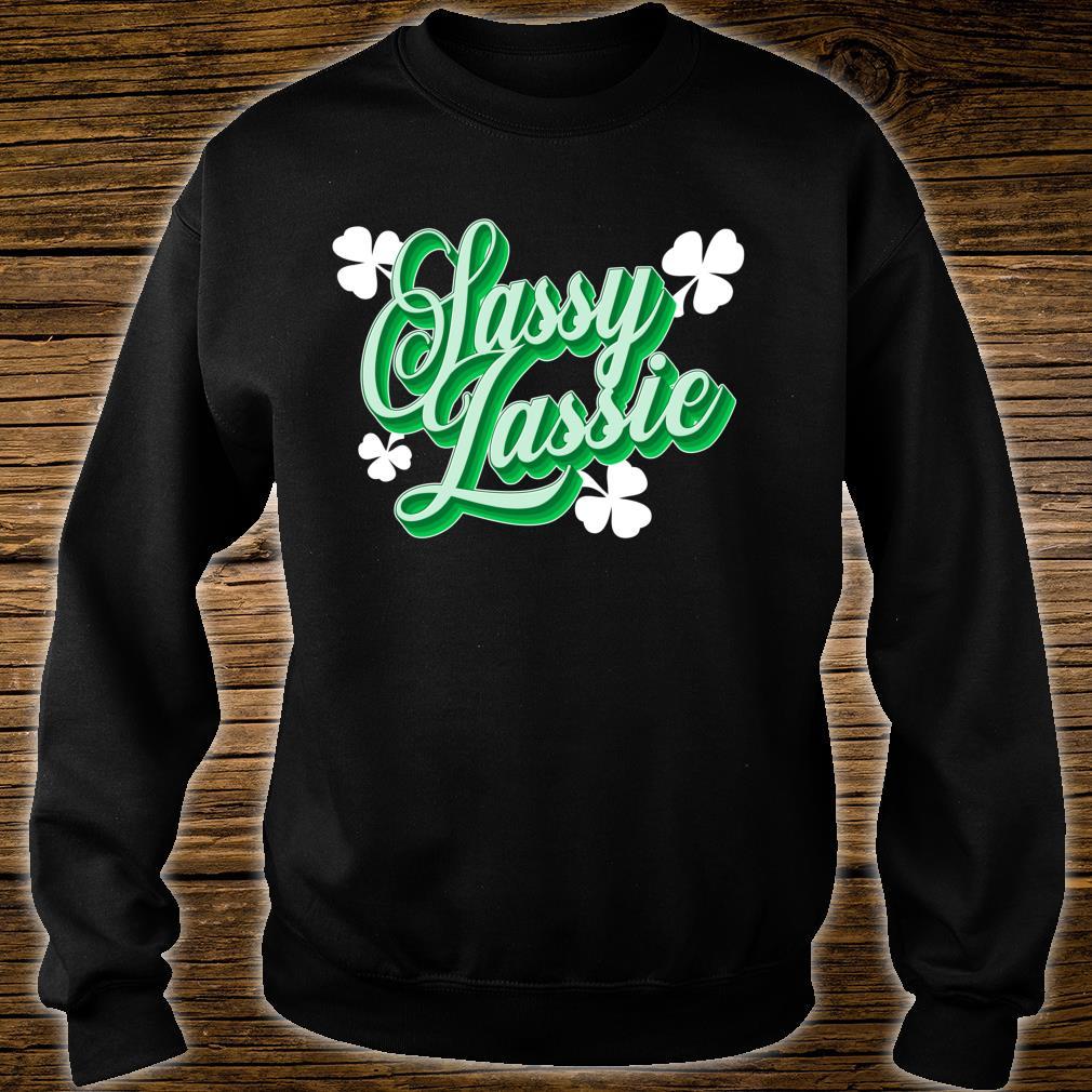 Sassy Irish Lassie Irish Green Adult Sweatshirt St Patricks Day