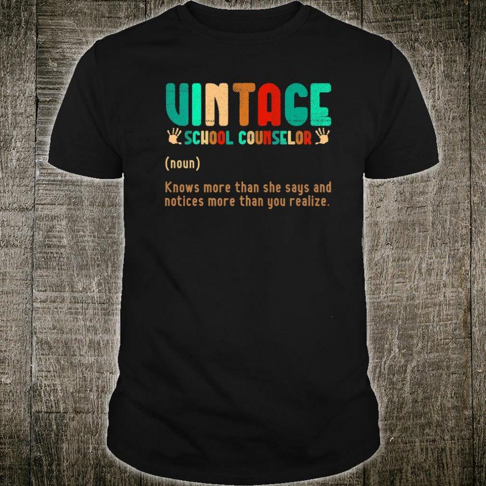 Vintage School Counselor Definition Shirt