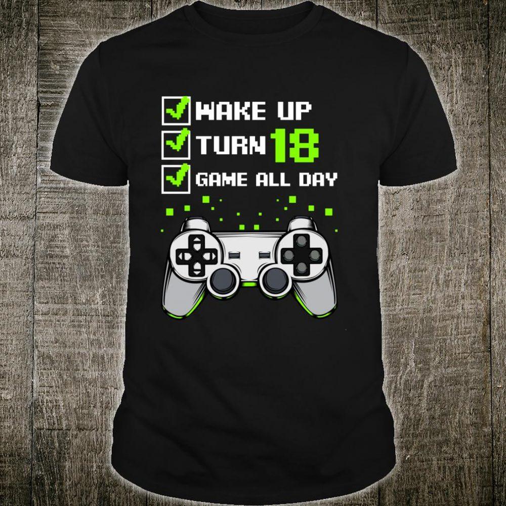 Wake Up Turn 18 Video Spiele Gamer Lustig Zocker Kleinigkeit Shirt