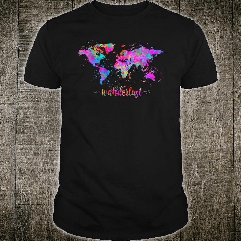 Wanderlust World Map Shirt