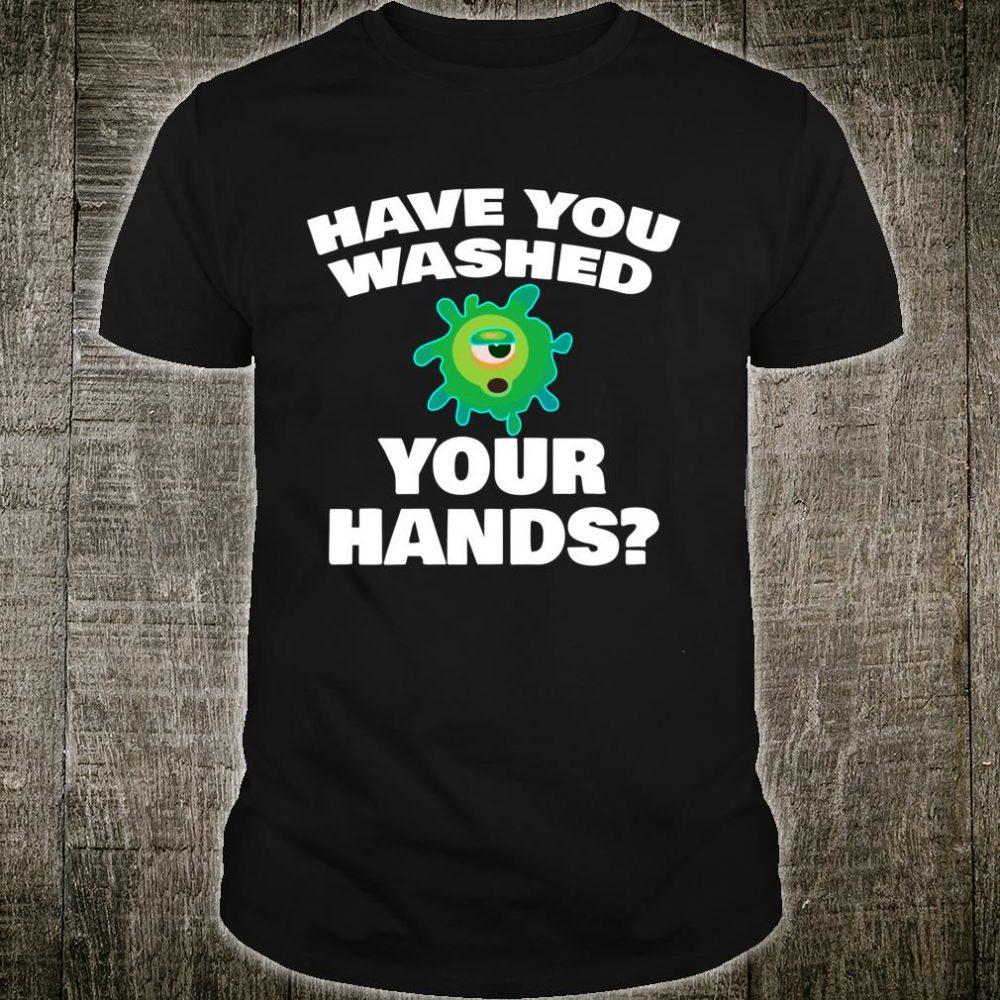 Wash Your Hands Flu Virus Designer Shirt