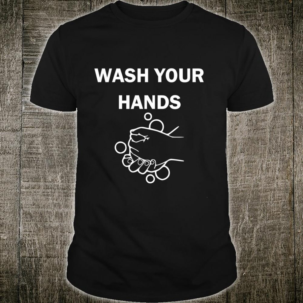 Wash Your Hands and Social Distancing Patriotism Love Space Shirt