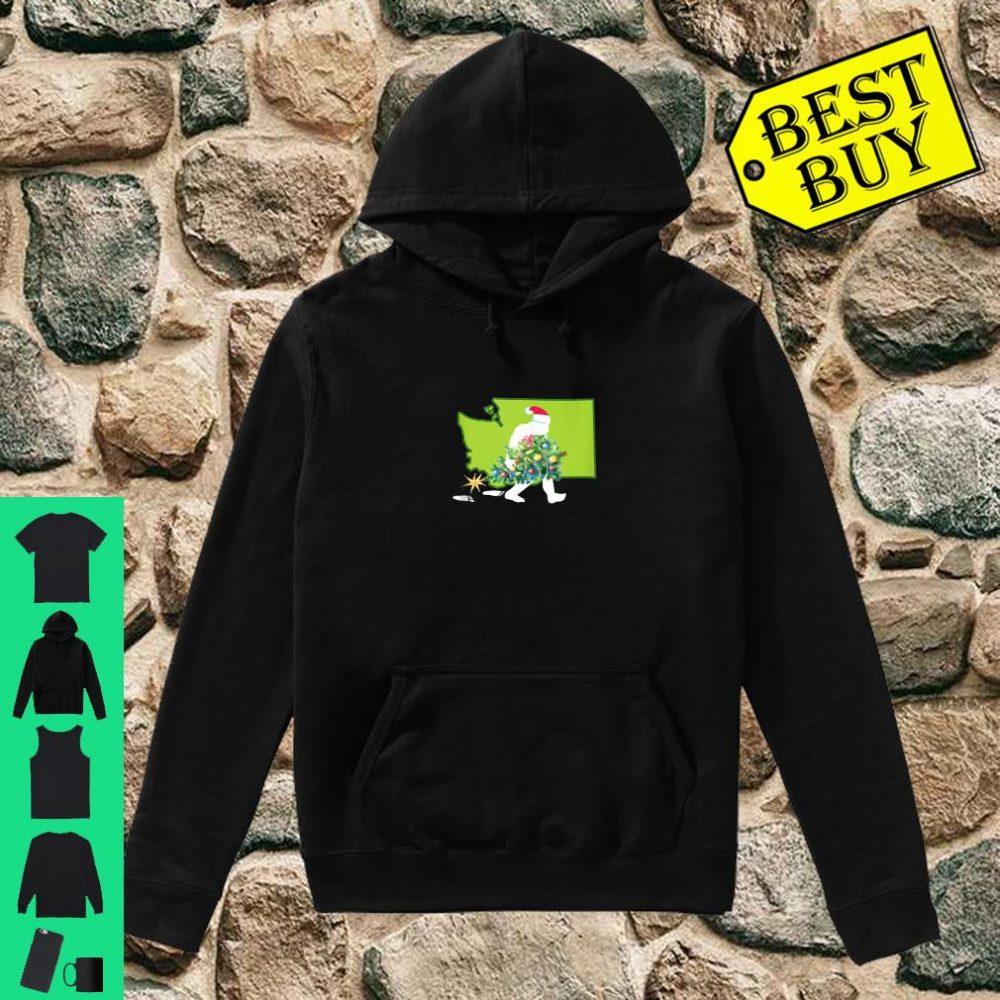 Washington Bigfoot State Christmas Tree Shirt hoodie