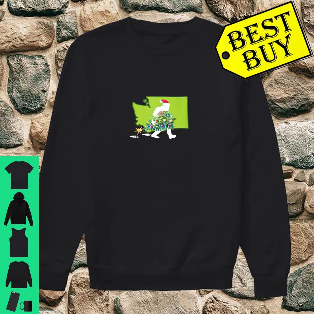Washington Bigfoot State Christmas Tree Shirt sweater