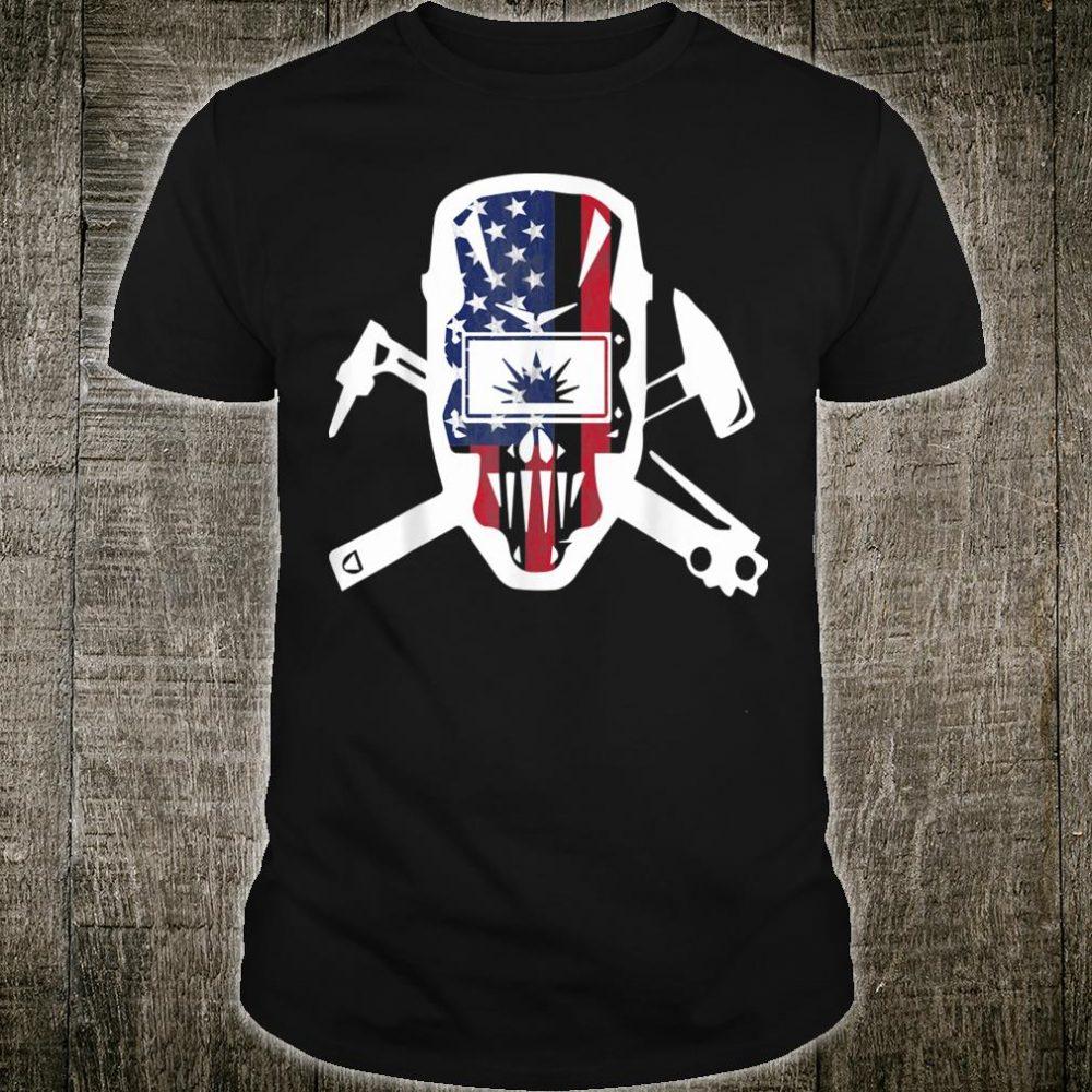 Welder Mask American Flag Shirt