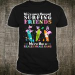 We're More Than Just Surfing Friends Pink Flamingo Shirt