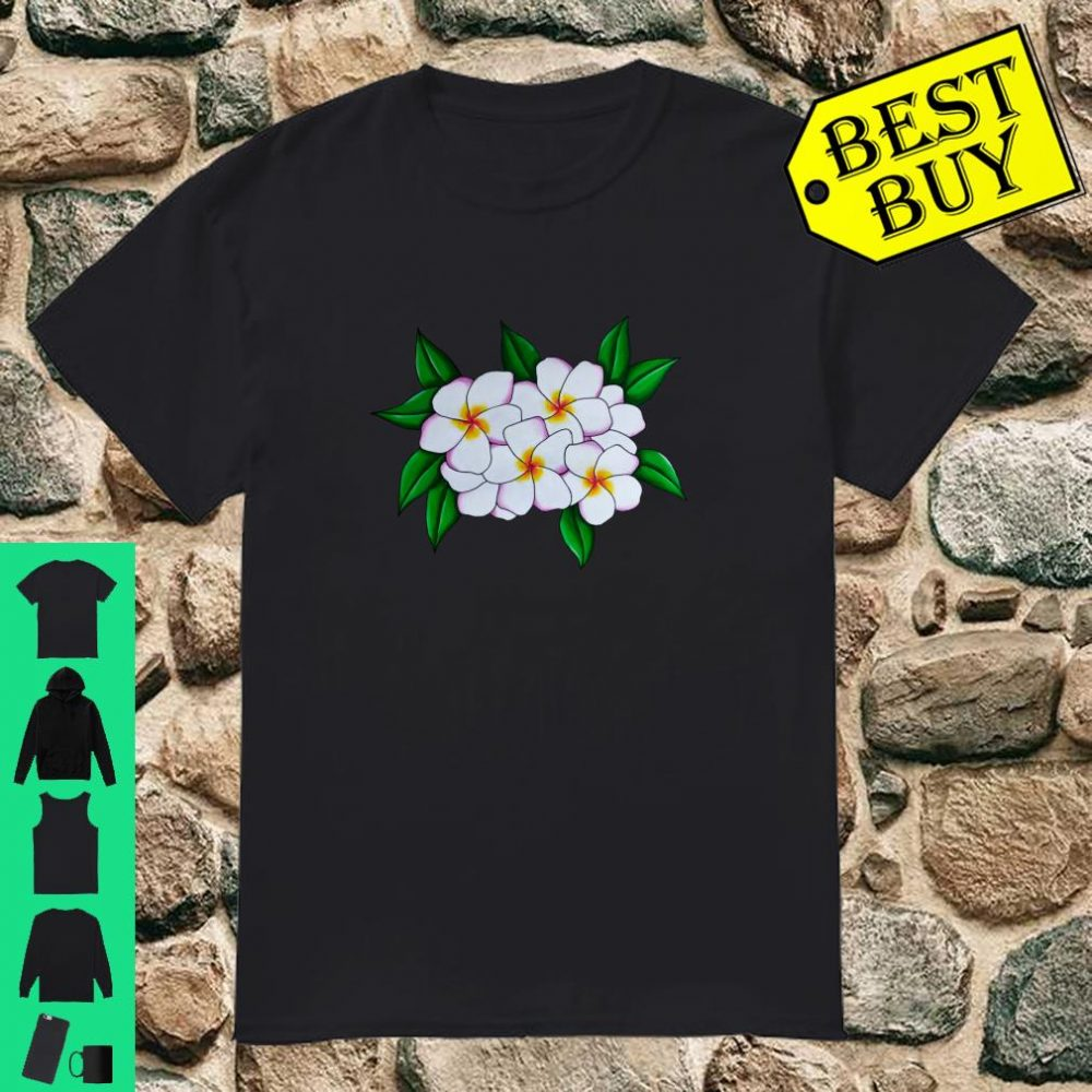 White Tropical Frangipani Flower Head Guam Plant Shirt