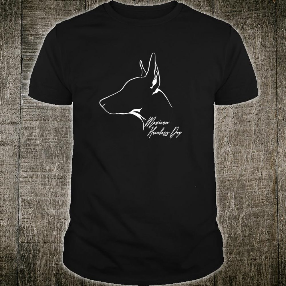 Wilsigns Mexican Hairless Dog Profil Hund Geschenk Hunde Shirt