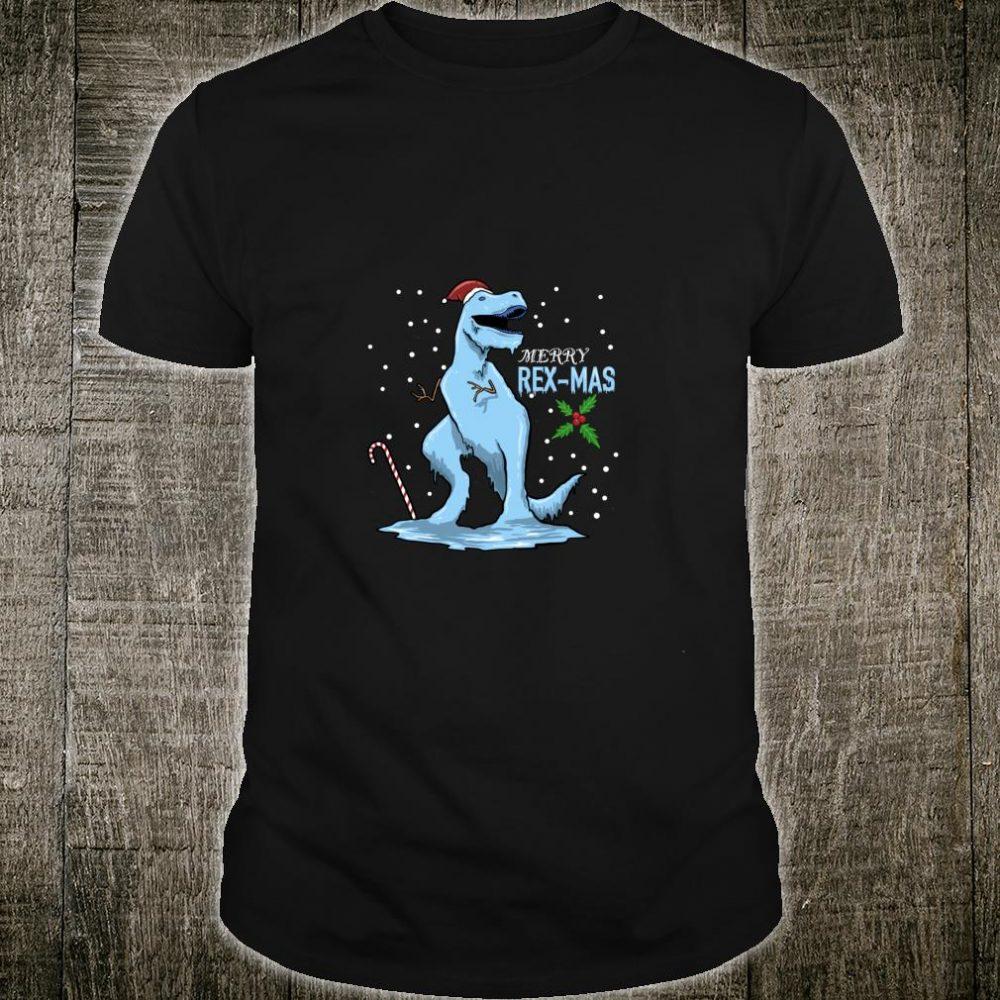 Winter Dinosaurier Mit Humor Zu Weihnachten Als Geschenk Shirt