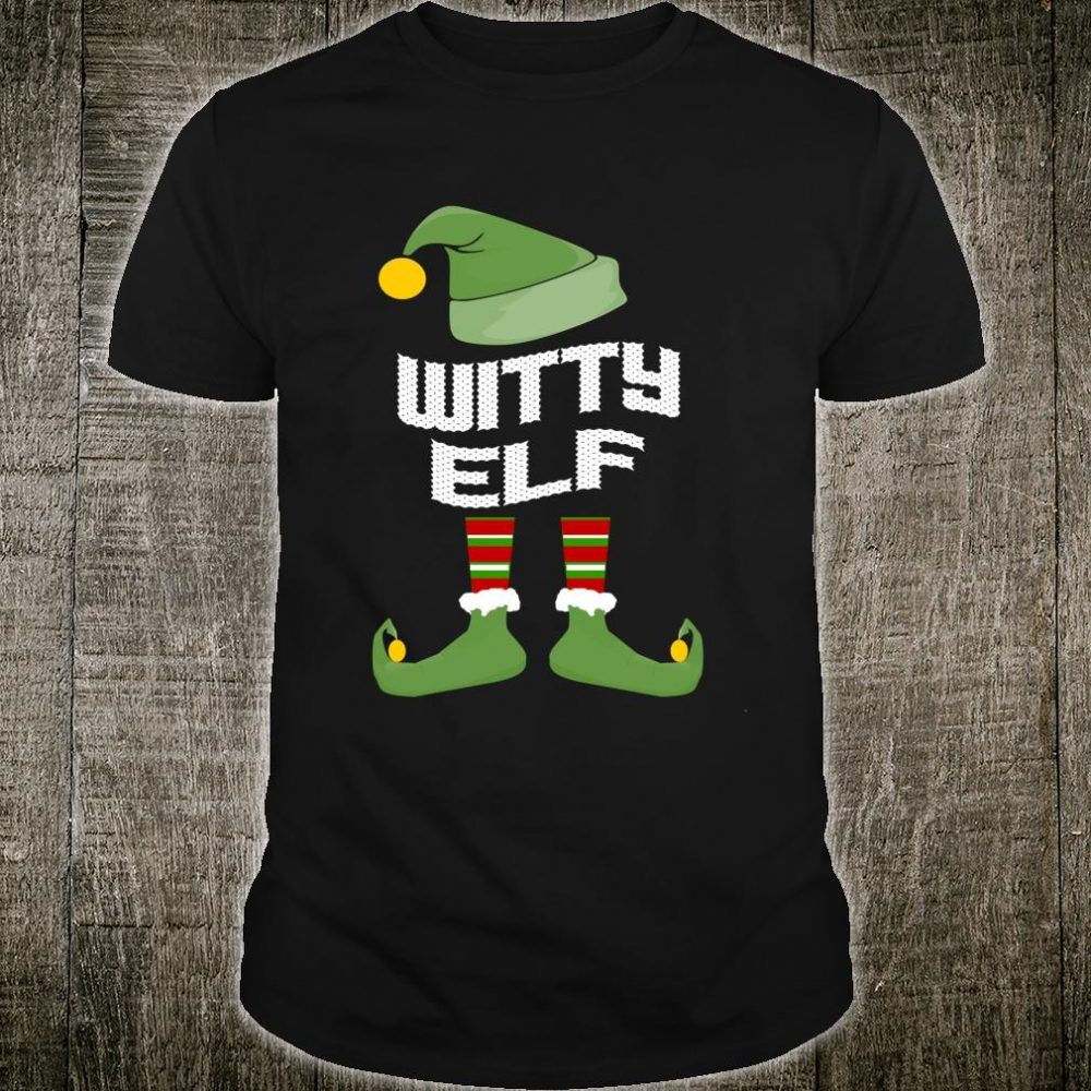 Witty Elf Matching Family Group Christmas Shirt