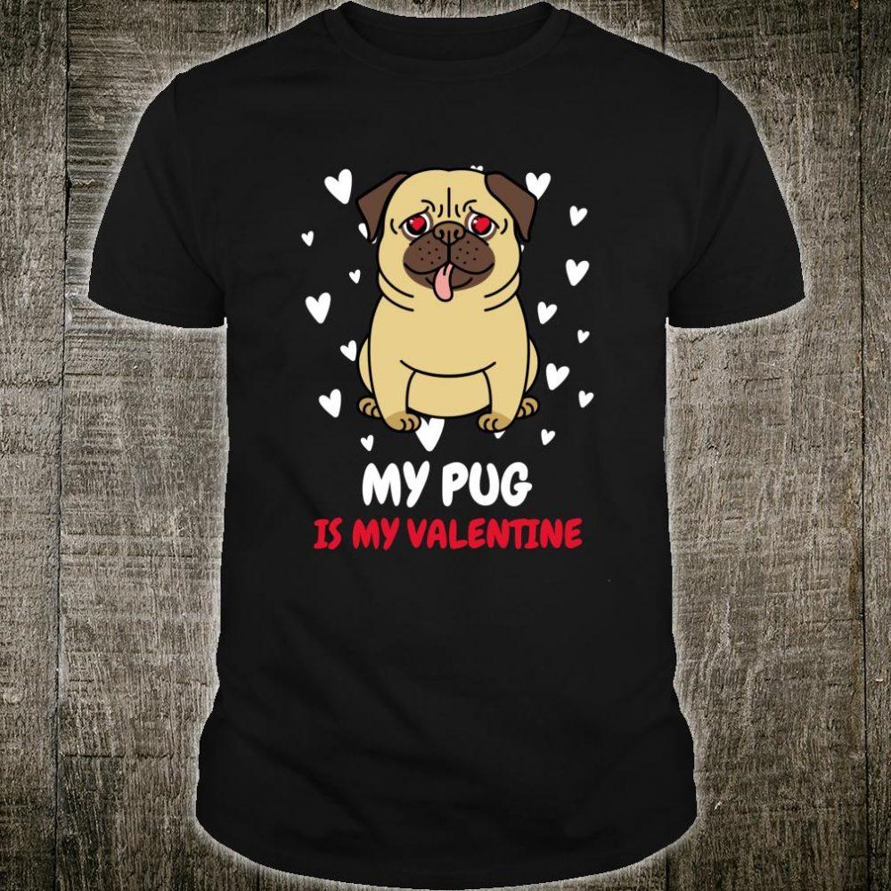 Womens Pug Valentines Heart Shirt Pug For Pugs Shirt