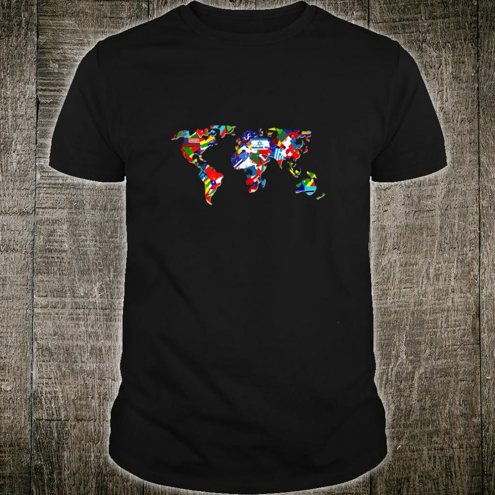 World Map Country Flag Atlas Earth Day Countries of World Shirt