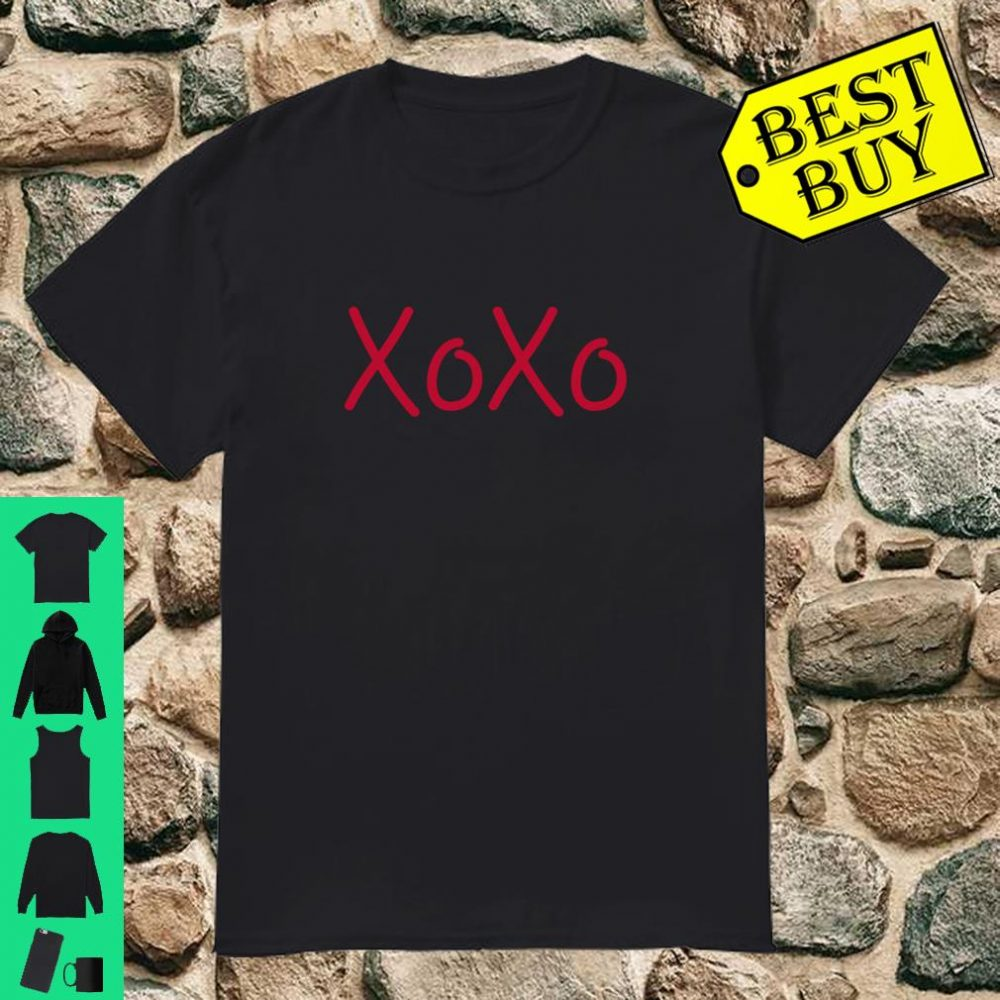 XOXO Chasing Hearts Valentines Day Heart Font Shirt