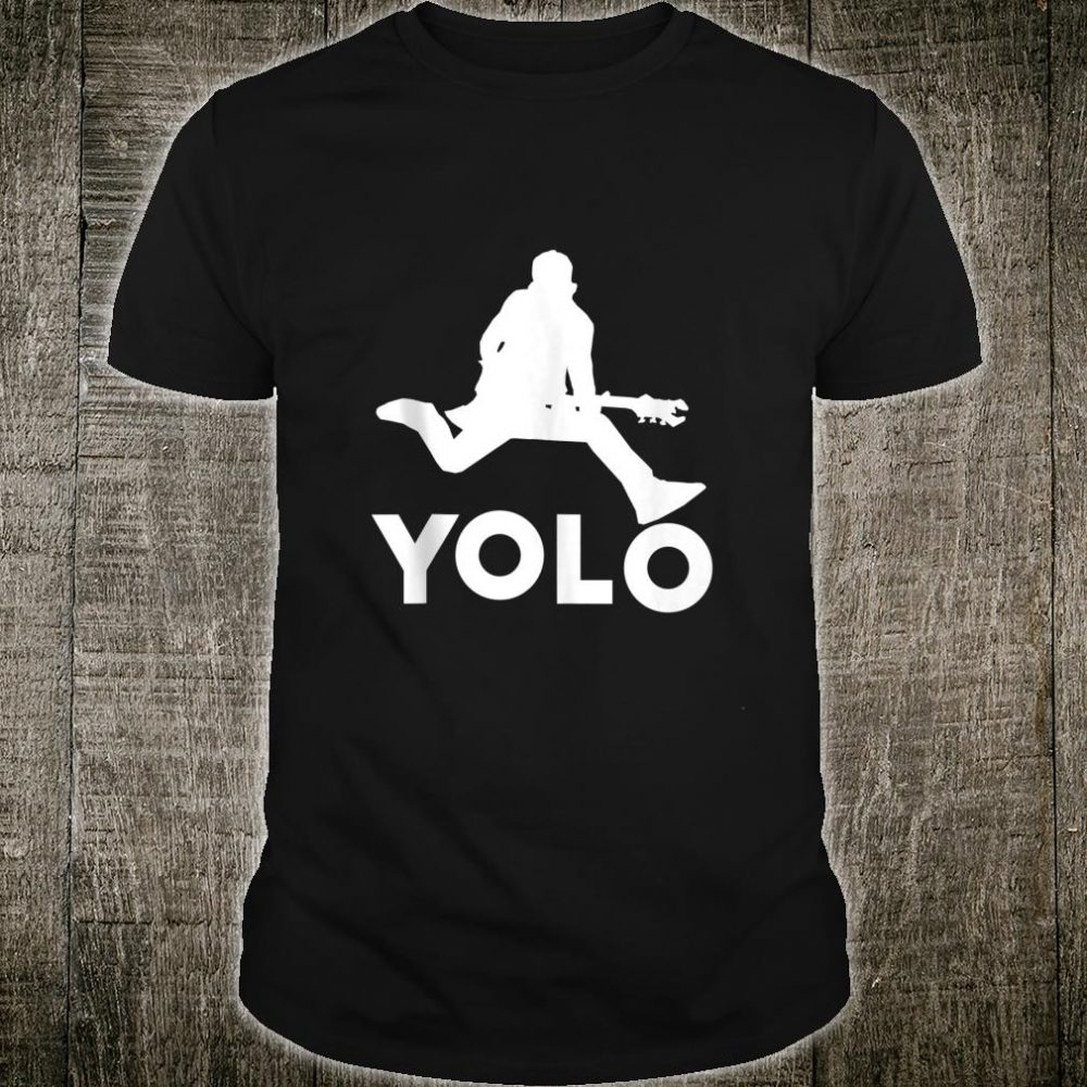 YOLO Rock Star On Electric Guitar You Only Live Once Shirt