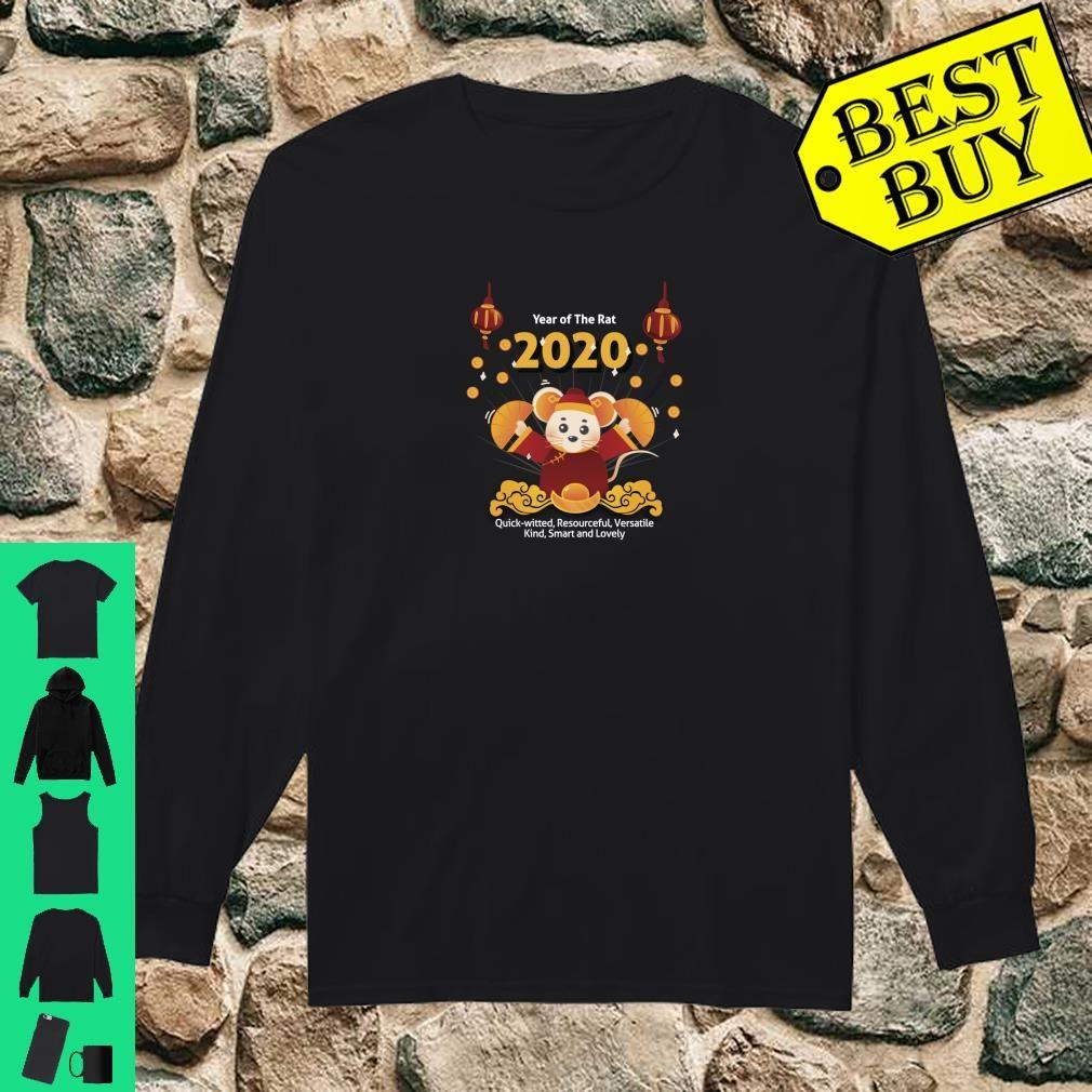 Year of the Rat Shirt Chinese New Year 2020 Girls Boys Shirt long sleeved